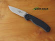 Ontario Knife RAT M1 Folding Knife with Black Handle, Fine Edge - 8848SP