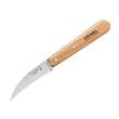 Opinel Curved Vegetable - Peeling Knife, Stainless Steel, Beechwood Handle, Natural - 114