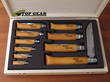 Opinel Carbon Steel Pocket Knife, Complete Knife Display Set - No. 2 to No. 1
