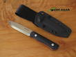 Real Steel Bushcraft III Fixed Blade Knife, D2 Tool Steel, Black - 3725