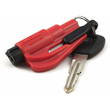 Resqme The Original Keychain Car Escape Tool w Glass Breaker and Seat Belt Cutter, Red - RESQME-RED
