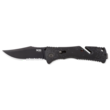 SOG Trident Assisted Opening Clip-Point Knife with Combo Edge - TF1-CP