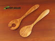 Scanwood Salad Serving Set - Olive Wood 30 cm