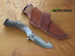 Silver Stag Big Gamer Guthook Knife with Stag Handle, D2 Tool Steel - BG4.0