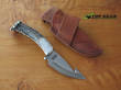 Silver Stag Guthook Hunting Knife with Stag Handle, High Carbon Steel - SSG4.5