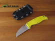 Spyderco Enuff Salt Sheepfoot Rescue Knife H-1 - FB31SYL