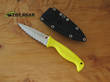 Spyderco Fishhunter Salt Fixed Blade Knife, H-1 Stainless Steel, Serrated, Yellow FRN - FB40SYL