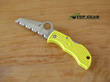 Spyderco Manbug Salt H1 Keyring Knife, Yellow FRN Handle, Serrated - MYLS