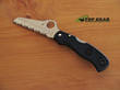 Spyderco Saver Salt Folding Rescue Knife, H1 Stainless Steel - Black C118BK
