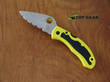 Spyderco Snap-IT Salt Folding Knife, H1 Stainless Steel, Serrated Edge, Yellow FRN Handle - C26SYL