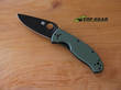 Sypderco Tenacious Folding Knife, Green Handle with Black, Plain Edge - C122GPBGR