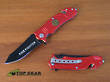 Super Knife Firefighter Rescue Knife, Red - YC-515RF