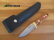 Svord Deluxe Drop-Point Hunting Knife with Mahogany Handle - 350B