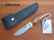 Svord Deluxe Drop-Point Hunting Knife; Mahogany Handle - 1990NZ