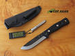 Tops B.O.B. Brothers of Bushcraft Survival Knife with Black Handle - BROS-BLK-G10