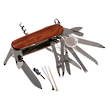 Victorinox Swisschamp Swiss Army Knife, Walnut Wood Handle - 1.6791.63