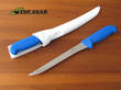 Victory Straight Fish Fillet Knife with blue Progrip Handle and Sheath - 2/508/20/200
