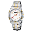 Wenger Platoon Mens Bicolor PVD Watch - Stainless Steel Strap 01.0941.105