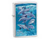 Zippo Lighter Windproof Guy Harvey Bottle Nose Dolphins - Model 21051
