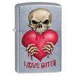 Zippo Love Bites Windproof Lighter, Street Chrome - 28464