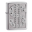 Zippo Bling Emblem Windproof Lighter, Polished Chrome - 20904