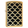Zippo Fence Design Windproof Lighter High Polished Brass - 28675