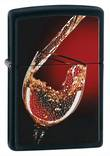 Zippo Glass of Wine Windproof Lighter - Black Matte 28179
