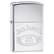 Zippo Jack Daniels No. 7 Logo Windproof Lighter, High Polished Chrome - 250JD.321
