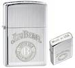 Zippo Jim Beam Crown Stamp Logo WIndproof Lighter, High Polished Chrome - 28190