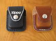 Zippo Lighter Pouch With Zippo Logo - Black or Brown