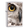 Zippo Owl Face Brushed Chrome Windproof Lighter - 28650