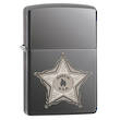 Zippo Skull Badge Windproof Lighter - Black Ice 28360