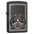 Zippo Skulls Windproof Lighter - Black Ice 28678