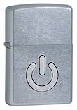 Zippo Power Button Windproof Lighter, Street Chrome - 28329