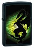 Zippo Triptych Dragon Windproof Lighter, Black Matte - 28135